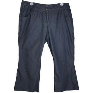 PLUS SZ Fashion Bug Dark Blue Trousers - Sz 22